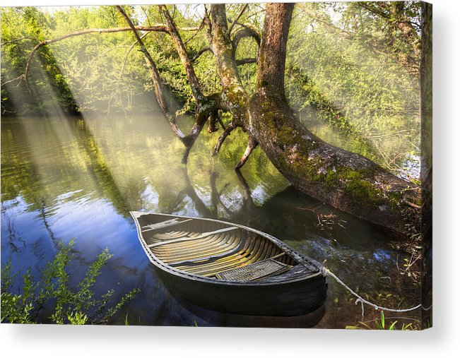 Appalachia Acrylic Print featuring the photograph Morning Mists by Debra and Dave Vanderlaan