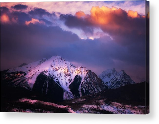 Storm Acrylic Print featuring the photograph Morning Storm by Darren White