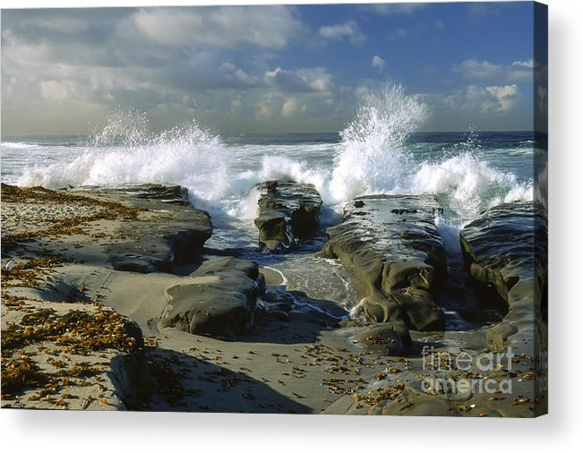 California Acrylic Print featuring the photograph Morning Tide In La Jolla by Sandra Bronstein
