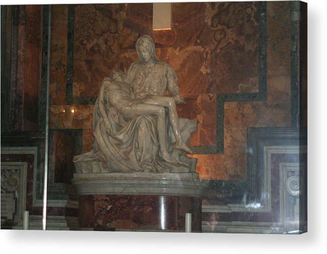Sculpture Acrylic Print featuring the photograph Mother And Child by Dick Willis