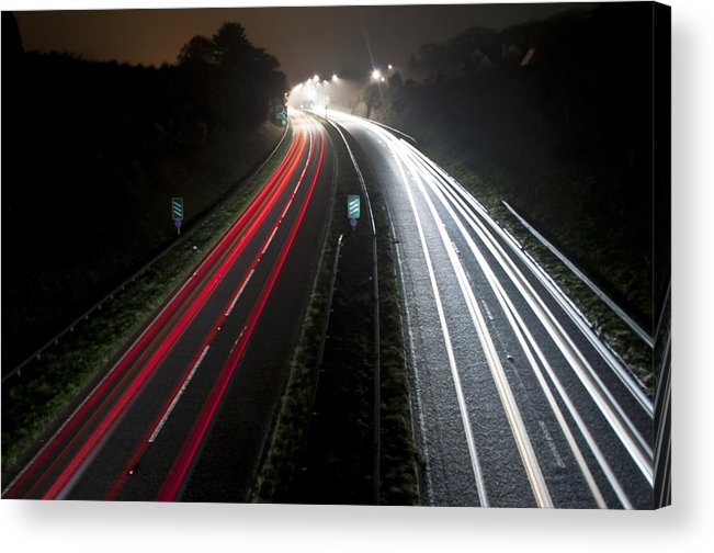 Motorway Acrylic Print featuring the photograph Motorway by Ian Cocklin