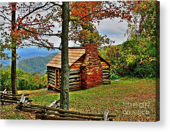 Cabin Acrylic Print featuring the photograph Mountain Cabin 1 by Dan Stone