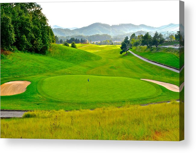 Golf Acrylic Print featuring the photograph Mountain Golf by Frozen in Time Fine Art Photography
