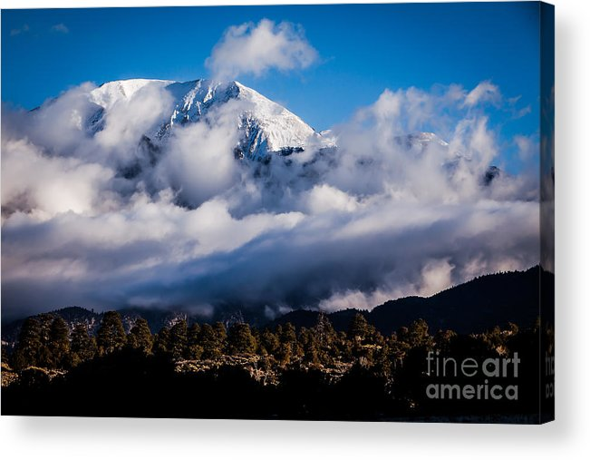 2014 Acrylic Print featuring the photograph Mountains At Sand Dunes by Ray K