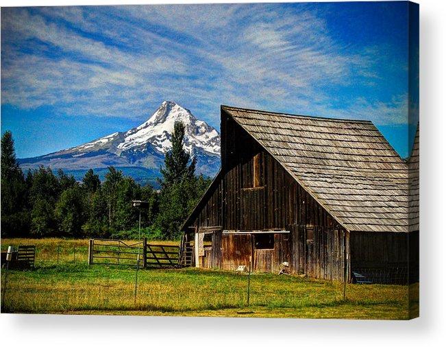 Mt Hood Acrylic Print featuring the photograph Mt Hood Oregon by Donna Bevington