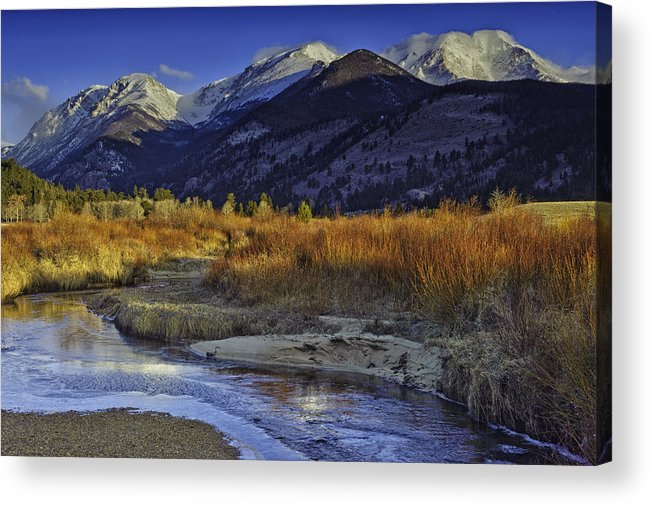 Rocky Mountain National Park Acrylic Print featuring the photograph Mummy Range From Sheep Lakes by Tom Wilbert