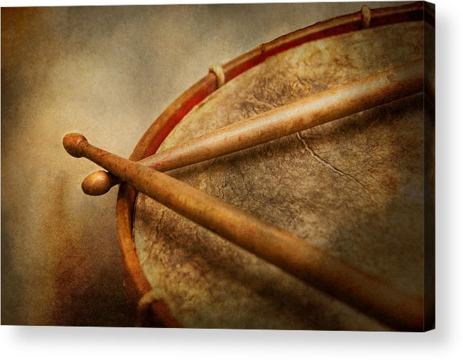 Hdr Acrylic Print featuring the photograph Music - Drum - Cadence by Mike Savad