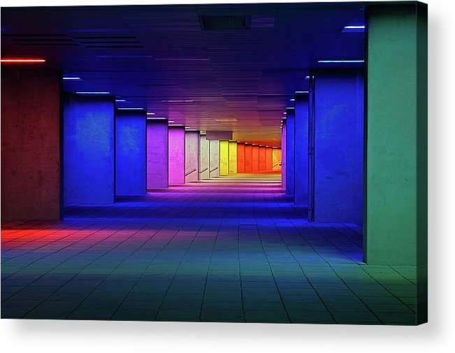 Architecture Acrylic Print featuring the photograph Nai Rotterdam by Oliver Buchmann