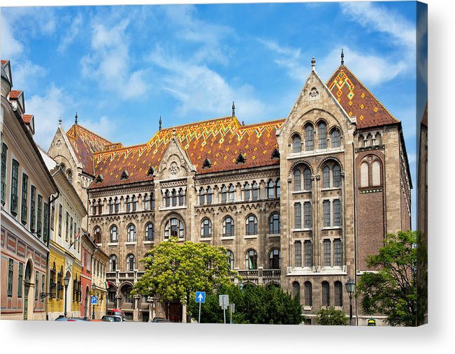 Budapest Acrylic Print featuring the photograph National Archives Of Hungary by Artur Bogacki