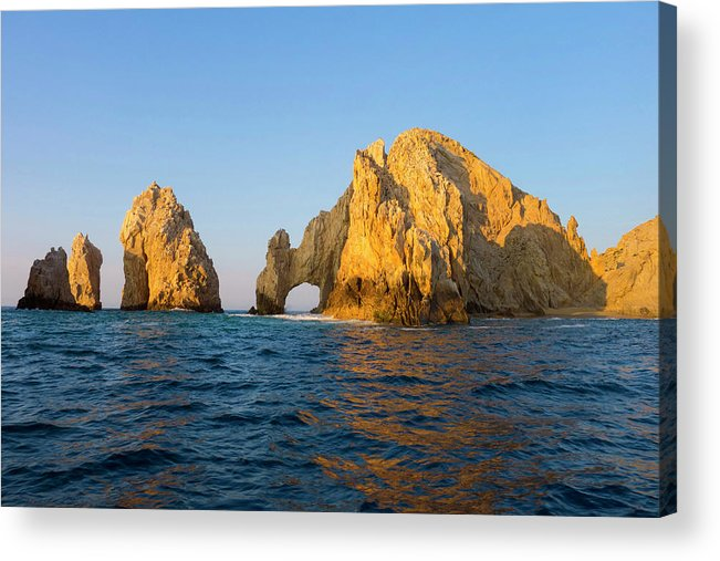 Tranquil Scene Acrylic Print featuring the photograph Natural Arch, Cabo San Lucas, Baja by Danita Delimont