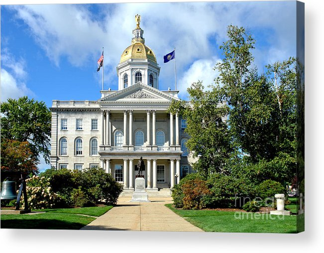 New Acrylic Print featuring the photograph New Hampshire State Capitol by Olivier Le Queinec