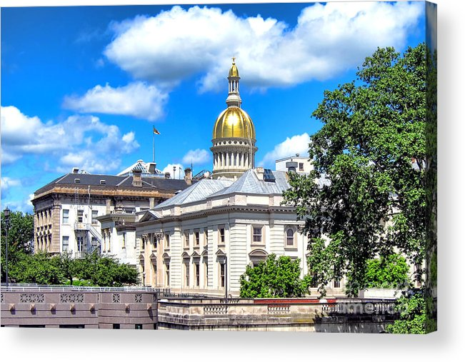 New Acrylic Print featuring the photograph New Jersey Capitol by Olivier Le Queinec
