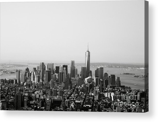 New York Acrylic Print featuring the photograph New York City by Linda Woods