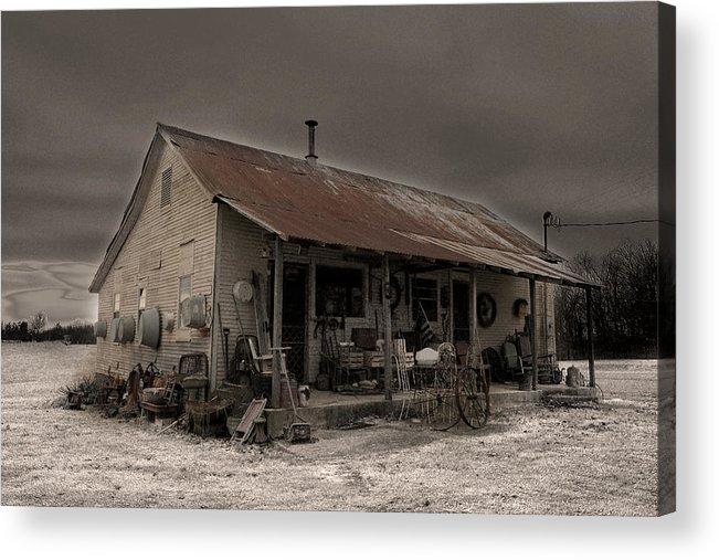 Noland Country Store Acrylic Print featuring the digital art Noland Country Store by William Fields