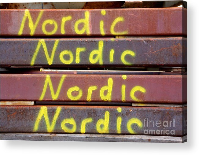 Background Acrylic Print featuring the photograph Nordic Rusty Steel by Jannis Werner