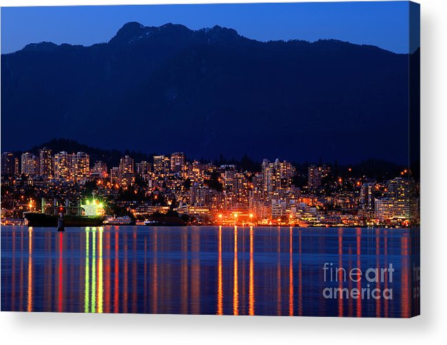 North Vancouver Acrylic Print featuring the photograph North Vancouver At Dusk by Terry Elniski