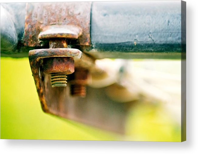 Bokeh Acrylic Print featuring the photograph Nuts And Bolts by Michael Tzacostas