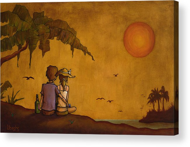 Nature Acrylic Print featuring the painting Romance by Bryan Ubaghs