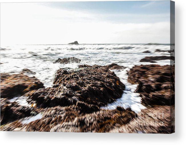 Ocean Acrylic Print featuring the photograph Ocean Movement by Tim Tolok