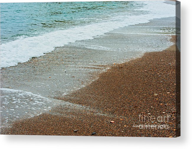 Ocean Acrylic Print featuring the photograph Ocean Wave Color Palette by Artist and Photographer Laura Wrede