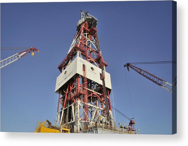Oil Rig Acrylic Print featuring the photograph Offshore Drilling Tower by Bradford Martin