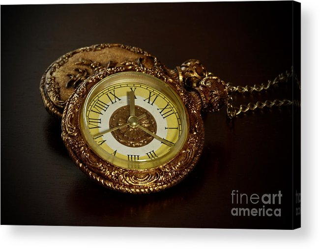 Old Grandfather Time Acrylic Print featuring the photograph Old Grandfather Time by Inspired Nature Photography Fine Art Photography