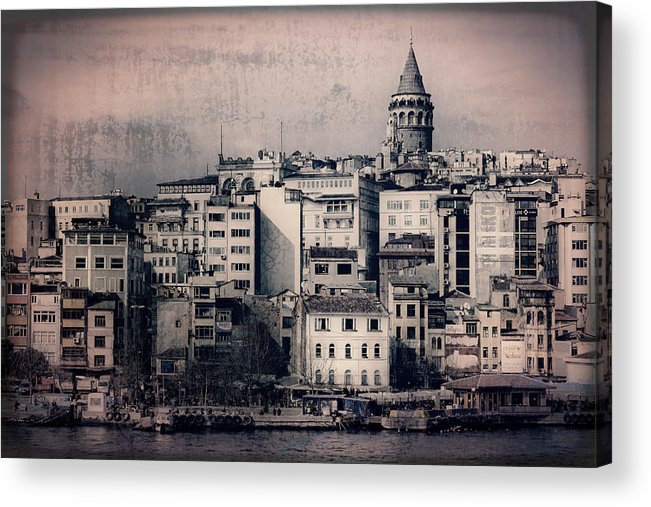 Galata Tower Acrylic Print featuring the photograph Old New District by Joan Carroll