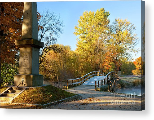 Concord Acrylic Print featuring the photograph Old North Bridge by Brian Jannsen