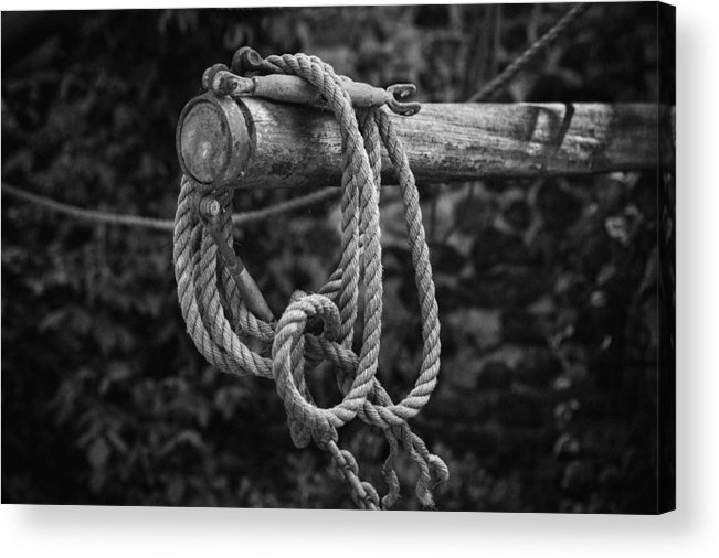 Rope Acrylic Print featuring the photograph Old Rope by David Hare