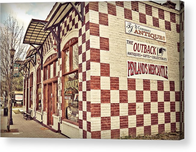 Ellijay Acrylic Print featuring the photograph Old Towne by Shelly Morrow
