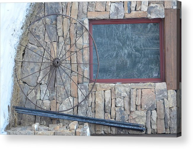 Scenery Acrylic Print featuring the photograph Old Wheel by Dorothea Hanson