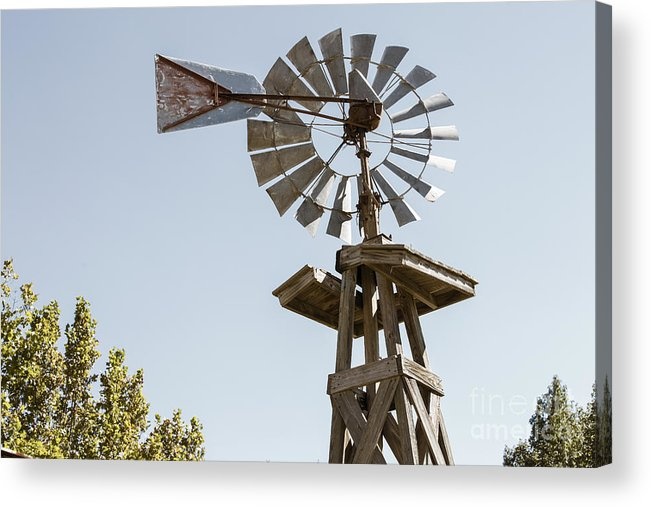 Windmill Acrylic Print featuring the photograph Old Windmill In Antique Color 3009.02 by M K Miller