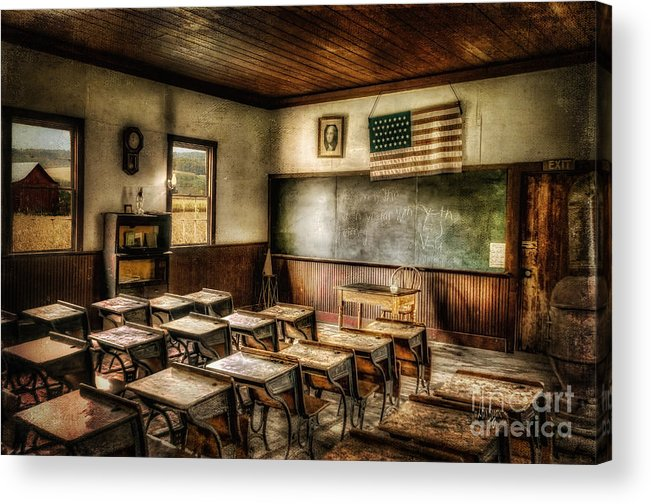 School Acrylic Print featuring the photograph One Room School by Lois Bryan