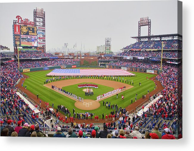 Photography Acrylic Print featuring the photograph Opening Day Ceremonies Featuring by Panoramic Images