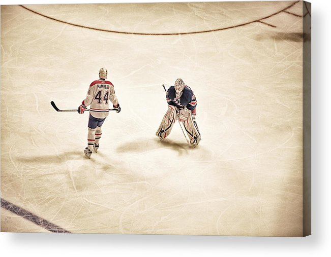 Hockey Acrylic Print featuring the photograph Opponents by Karol Livote