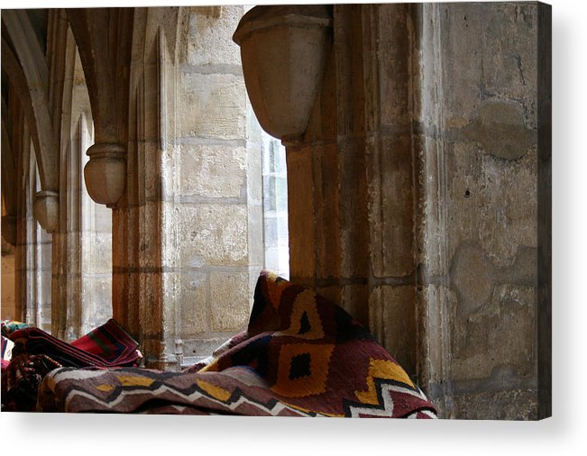 Rugs Acrylic Print featuring the photograph Oriental Rugs In Paris by A Morddel
