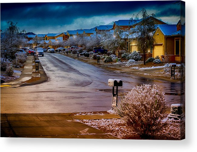 Myhaver Photography Acrylic Print featuring the photograph Oro Valley Winter No.54 by Mark Myhaver