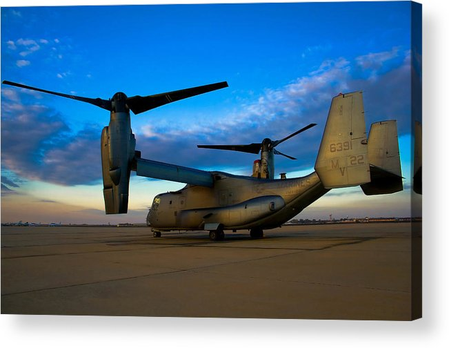 V22 Acrylic Print featuring the photograph Osprey Sunrise Series 1 Of 4 by Ricky Barnard
