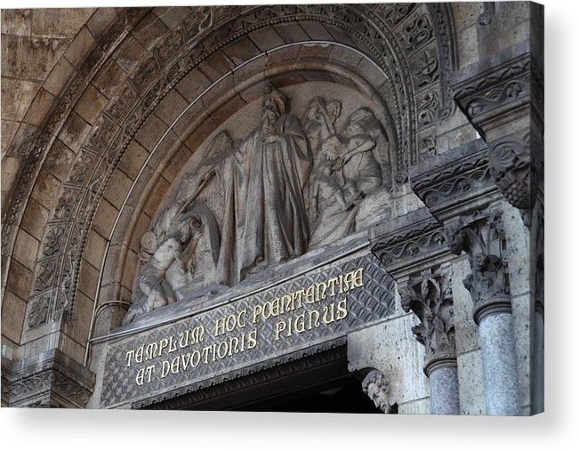 And Acrylic Print featuring the photograph Outside The Basilica Of The Sacred Heart Of Paris - Sacre Coeur - Paris France - 011312 by DC Photographer