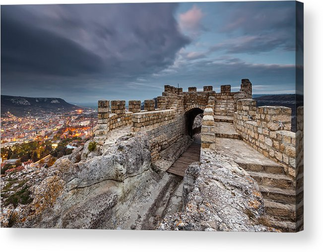Bulgaria Acrylic Print featuring the photograph Ovech Fortress by Evgeni Dinev