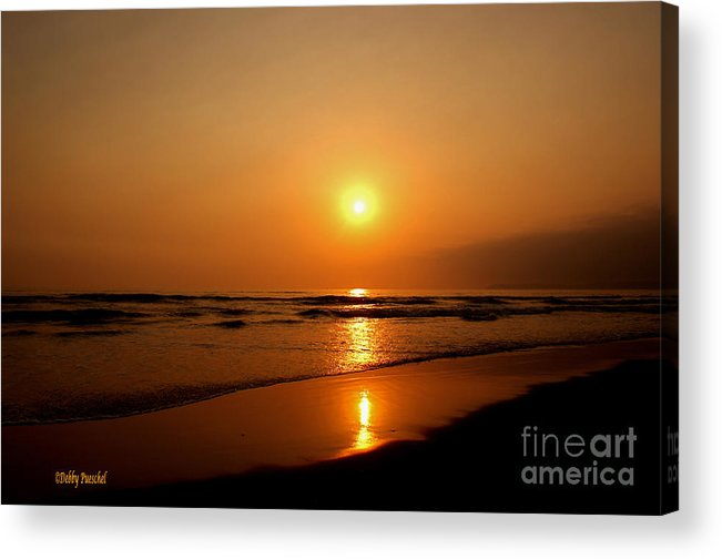 Pacific Ocean Acrylic Print featuring the photograph Pacific Sunset Reflection by Debby Pueschel