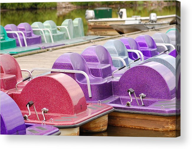 Paddle Boats Acrylic Print featuring the photograph Paddle Boats by James DeFazio