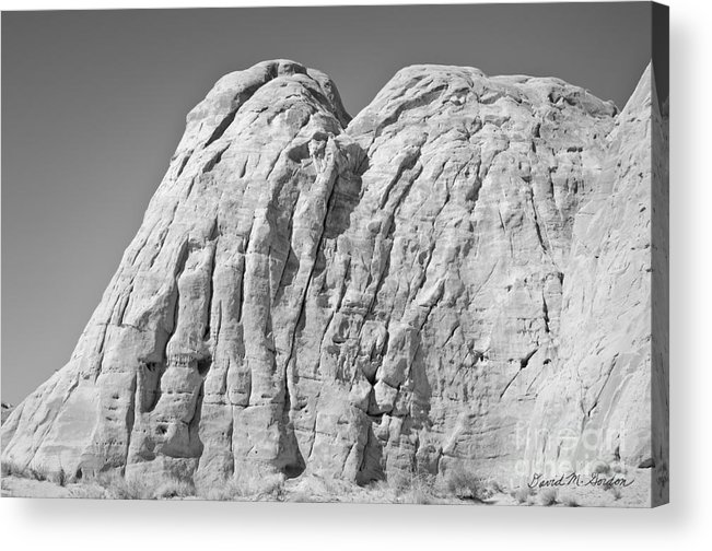 Black Acrylic Print featuring the photograph Paria Utah X by Dave Gordon