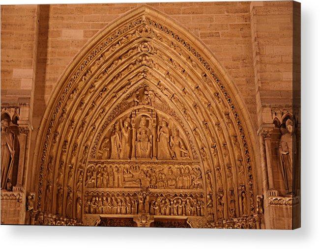 Aged Acrylic Print featuring the photograph Paris France - Notre Dame De Paris - 01136 by DC Photographer
