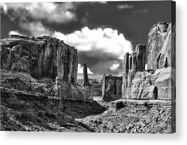 Utah Acrylic Print featuring the photograph Park Avenue In Arches National Park by Betty Eich