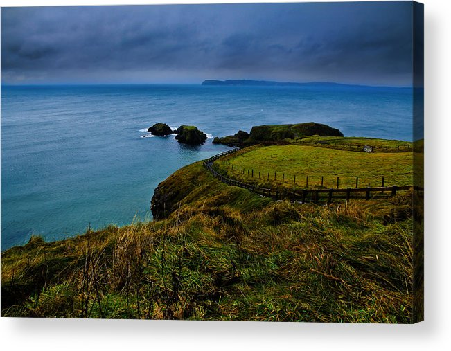 Ireland Acrylic Print featuring the photograph Path To The Bridge by Justin Albrecht