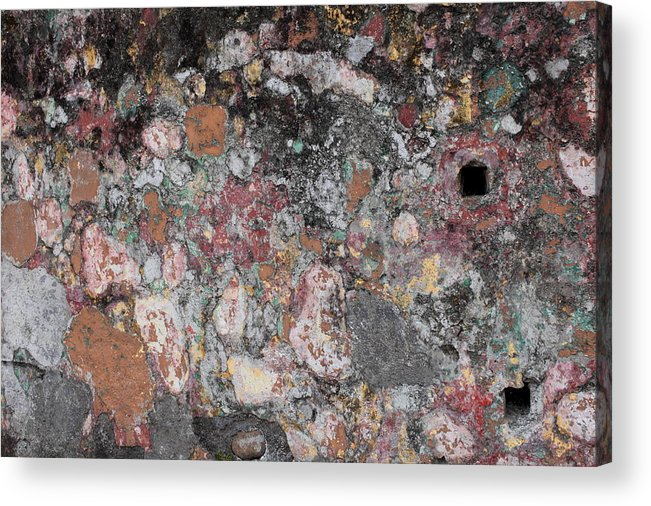 Acrylic Print featuring the photograph Patina On Wall by Stephen Dennstedt
