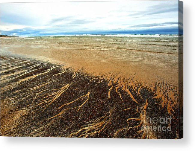 Agate Beach Oregon Acrylic Print featuring the photograph Patterns In The Tides by Artist and Photographer Laura Wrede