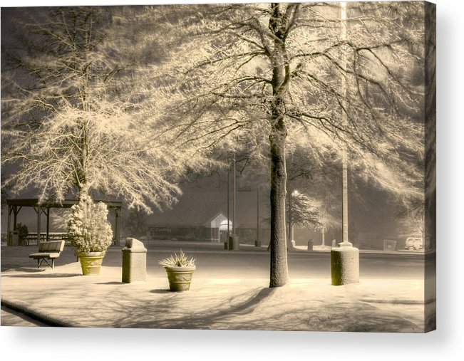Blizzard Acrylic Print featuring the photograph Peaceful Blizzard by JC Findley