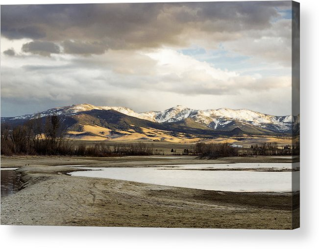 Mountains Acrylic Print featuring the photograph Peaceful Day In Helena Montana by Dana Moyer